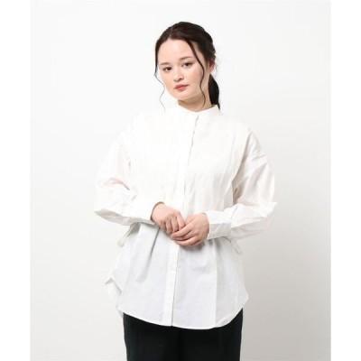シャツ ブラウス 40sブロード×ポプリン ドッキングシャツ