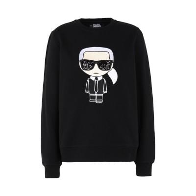 カールラガーフェルド KARL LAGERFELD スウェットシャツ ブラック XS コットン 100% スウェットシャツ