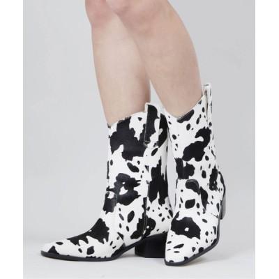 WEGO / WC/牛柄ブーツ WOMEN シューズ > ブーツ