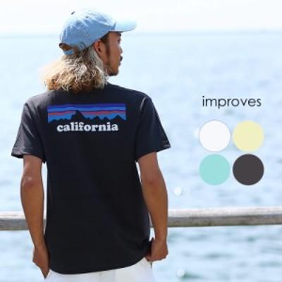 オリジナルボックスロゴ Tシャツ メンズ レディース 半袖 クルーネック california ロゴ プリント カットソー  半袖Tシャツ ホワイト ブ