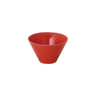 美濃焼 麗白 12.5cmトロンバトールボウル 赤 食器 日本製