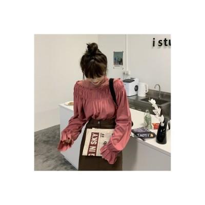 【送料無料】デザイン 感 ハイカラーシャツ 女 春 韓国風 何でも似合う 西洋風 ボ | 346770_A64713-8550130
