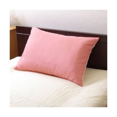 メーカー直送 まくらカバー 無地 洗える リバーシブル リバ枕カバー63IT ピンク/ライトピンク 約43×63cm