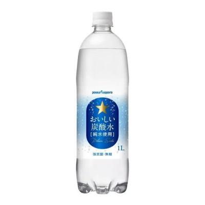 [飲料]2ケースまで同梱可 ポッカサッポロ おいしい炭酸水 【1L】PET 1ケース12本入り(1000ml  強炭酸 無糖 pokka sapporo)