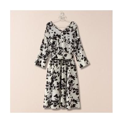 大きいサイズ 薄手素材花柄プリントワンピース ,スマイルランド, ワンピース, plus size dress