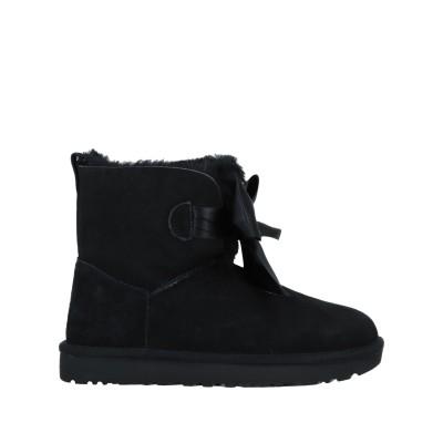 UGG AUSTRALIA ショートブーツ ブラック 6 革 / 紡績繊維 ショートブーツ