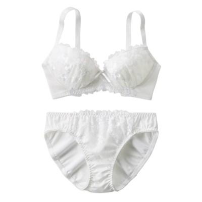 ゴージャスフローラル ブラジャー・ショーツセット(D70/M) (ブラジャー&ショーツセット)Bras & Panties