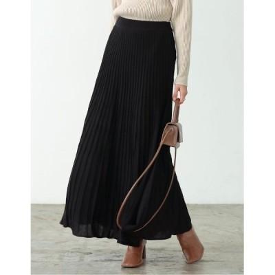 スカート [低身長サイズ有]プリーツライクニットスカート