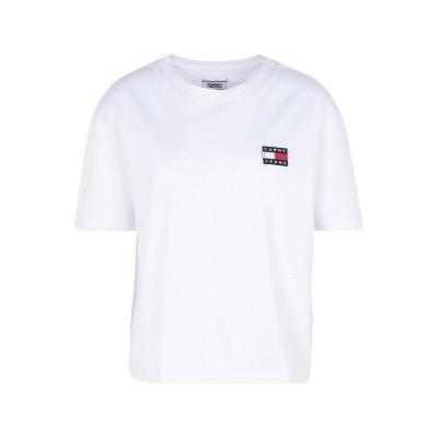TOMMY JEANS T シャツ ホワイト S 再生コットン 50% / ポリエステル 50% T シャツ