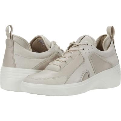 エコー ECCO レディース スニーカー ウェッジソール シューズ・靴 Soft 7 Wedge City Sneaker Gravel/Gravel Yak Nubuck/Cow Leather