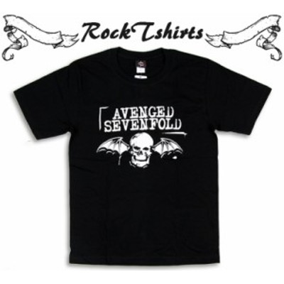 ロックTシャツ Avenged Sevenfold アヴェンジド セヴンフォールド 羽根つきドクロ バンドTシャツ メンズ レディース パンク 大きいサイズ