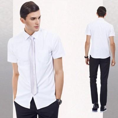 夏 トップス 半袖 シャツ ビジネスシャツ メンズ ビジネス ワイシャツ 吸汗 速乾 カジュアル 大きいサイズ スリム おしゃれ