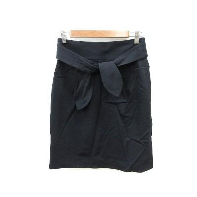 【中古】ボールジー BALLSEY トゥモローランド 台形スカート ひざ丈 ウエストマーク 38 黒 ブラック /ST レディース 【ベクトル 古着】