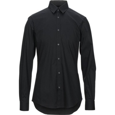 LHU アーバン LHU URBAN メンズ シャツ トップス Solid Color Shirt Black