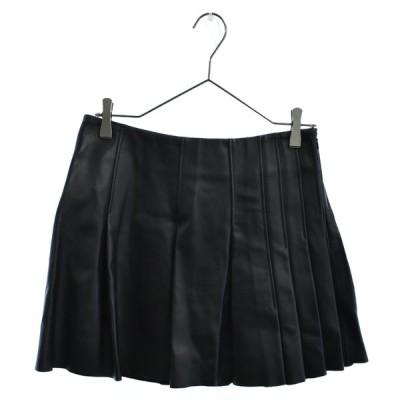 VIKTOR & ROLF (ヴィクターアンドロルフ) 13AW 44MA0084X8448 レザースカート ブラック