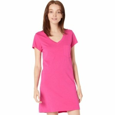 マイケルスターズ Michael Stars レディース ワンピース Vネック ワンピース・ドレス Cotton Modal V-Neck Tee Dress Magenta