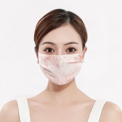 夏用マスク 蒸れない 洗える マスク 夏用 シフォン 小さめ 女性用 大人用 布マスク 息苦しくない 通気性 繰り返し使える おしゃれ 3枚セット