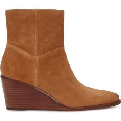 ヴィンス Vince レディース ブーツ ショートブーツ シューズ・靴 Mavis 75 Brown Suede Ankle Boots Brown