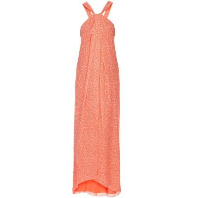 ダイアンフォンファステンバーグ DIANE VON FURSTENBERG ロングワンピース&ドレス オレンジ 8 100% シルク ロングワンピー