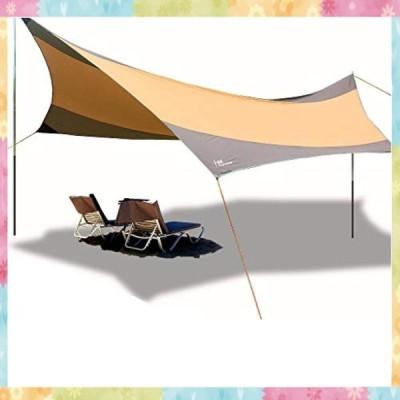 天幕サンシェルター テント シェード キャンプ アウトドア 超広い タープテント サンシェード550*560cm 防水 キャ