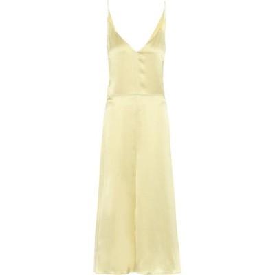 ジョゼフ Joseph レディース パーティードレス スリップドレス ワンピース・ドレス delphia silk-satin slip dress Limoncello