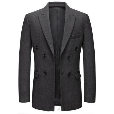 テーラードジャケット メンズ ラシャコート ビジネスコート 無地 アウター コート ウール 厚手 通勤 防寒 スーツ メンズコート 秋冬物 上品 大人 30代 40代 50代