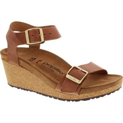 ビルケンシュトック サンダル レディース シューズ Soley Narrow Sandal - Women's Light Cognac Leather