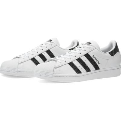 アディダス Adidas レディース スニーカー シューズ・靴 x swarovski superstar w White/Core Black/Silver