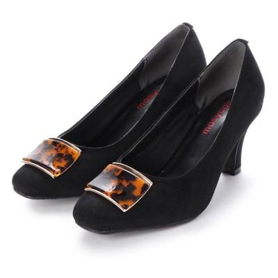 マシュガール masyugirl 【4E/幅広ゆったり・大きいサイズの靴】ベッコウ柄バック(ブラック) SOROTTO