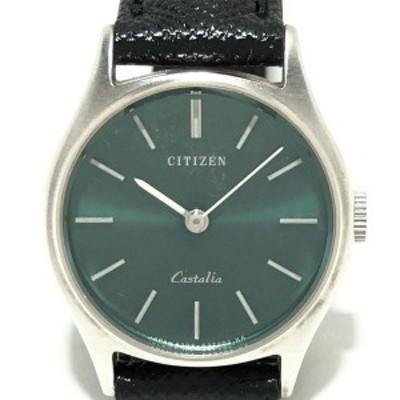 シチズン CITIZEN 腕時計 Castalia 4-631994 レディース ダークグリーン【中古】20210603