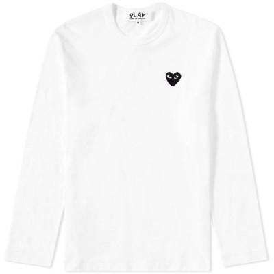 コム デ ギャルソン Comme des Garcons Play メンズ 長袖Tシャツ トップス Long Sleeve Tee White/Black