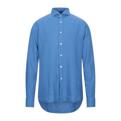 バグッタ BAGUTTA シャツ ブルー 41 リネン 100% シャツ