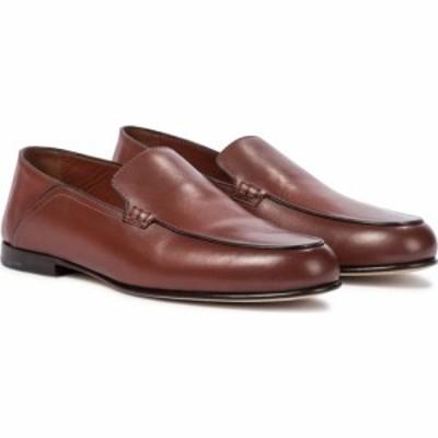 ロロピアーナ Loro Piana レディース ローファー・オックスフォード シューズ・靴 astoria leather loafers Autumn Orange