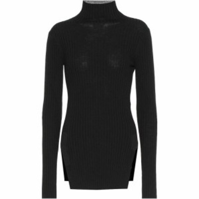 プラン C Plan C レディース ニット・セーター トップス wool turtleneck sweater Black
