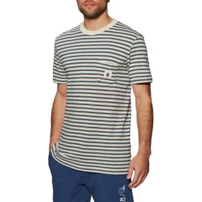 クイックシルバー Quiksilver メンズ Tシャツ トップス new beat short sleeve t-shirt Saragosa Sea New Beat
