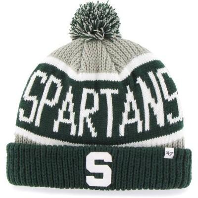 フォーティーセブン メンズ 帽子 アクセサリー '47 Men's Michigan State Spartans Grey Calgary Cuffed Knit Hat
