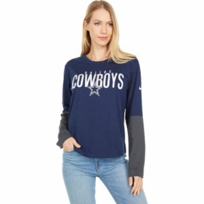 ダラス カウボーイズ Dallas Cowboys レディース Tシャツ トップス Nike City Mascot Long Sleeve Breathe Top Navy Anthracite