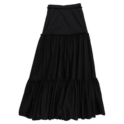 BROCK COLLECTION ロングスカート ブラック 2 コットン 100% ロングスカート