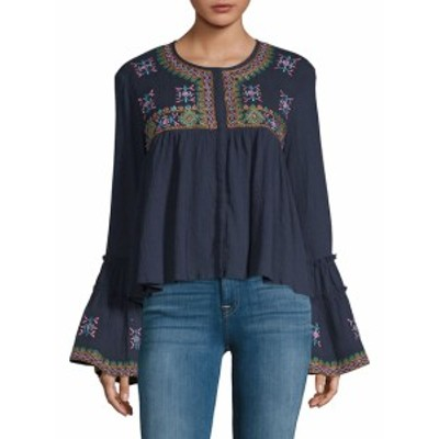 KAS ニューヨーク レディース トップス シャツ Megan Embroidered Cotton Top