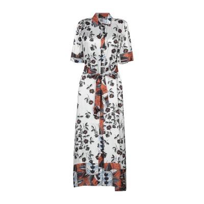 CRISTINAEFFE 7分丈ワンピース・ドレス ライトグレー 40 レーヨン 100% 7分丈ワンピース・ドレス