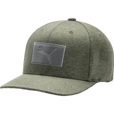 プーマ 帽子 アクセサリー メンズ PUMA Men's Utility Patch 110 Snapback Golf Hat DeepLichenGreen
