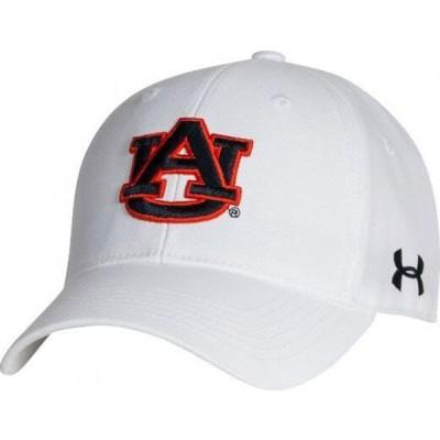 アンダーアーマー Under Armour メンズ キャップ 帽子 Auburn Tigers Adjustable White Hat