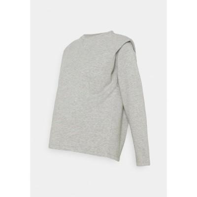 ピーシーズ マタニティ パーカー・スウェットシャツ レディース アウター PCMJYTTA  - Sweatshirt - light grey melange