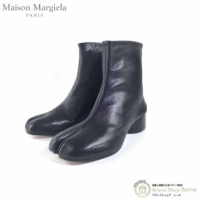 新品 メゾンマルジェラ(Maison Margiela) Tabi タビ 足袋 ショートブーツ ヴィンテージレザー S58WU0273 ブラック#38