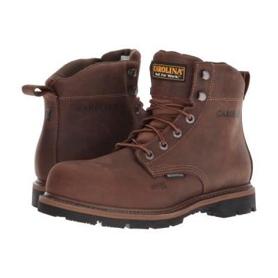 """カロリーナ ブーツ&レインブーツ シューズ メンズ 6"""" Waterproof Work Boot CA9536 Mohawk RW/Brown Leather Upper"""