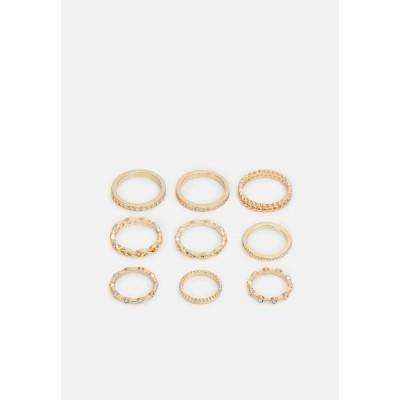 ピーシーズ リング レディース アクセサリー PCKAROLINE 9 PACK - Ring - gold-coloured