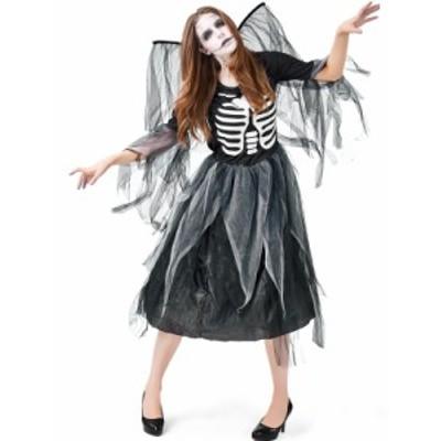 送料無料 ゾンビ 衣装 コスチューム 大人 女性用 ホラー ゴースト骸骨 お化け 仮装 ハロウィン halloween コスチューム 衣装 ホラー ゾン