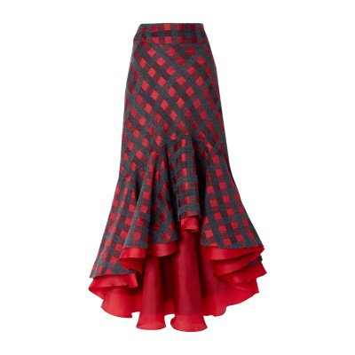 SILVIA TCHERASSI ひざ丈スカート レンガ XS アクリル 28% / ポリエステル 24% / レーヨン 23% / 合成繊維 13