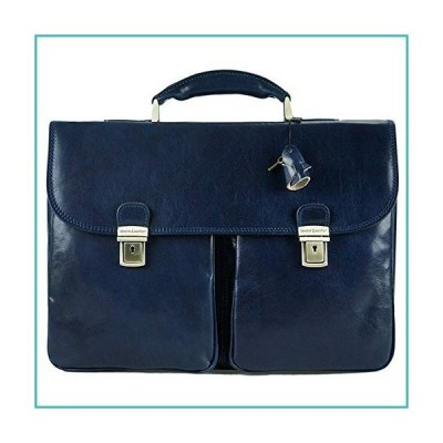 AGUILERA-Unisex handmade genuine leather briefcase with two key buckle closures【並行輸入品】
