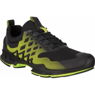 エコー メンズ スニーカー シューズ Men's ECCO BIOM Aex Low Sneaker Black/Lime Punch Textile